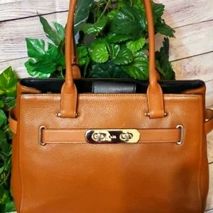 Coach Swagger Nubuck Pebbled Leather Carryall